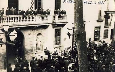 Proclamació de la República a Mataró
